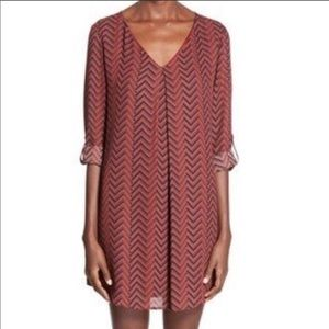 Lush oversized chevron tunic dress size Medium